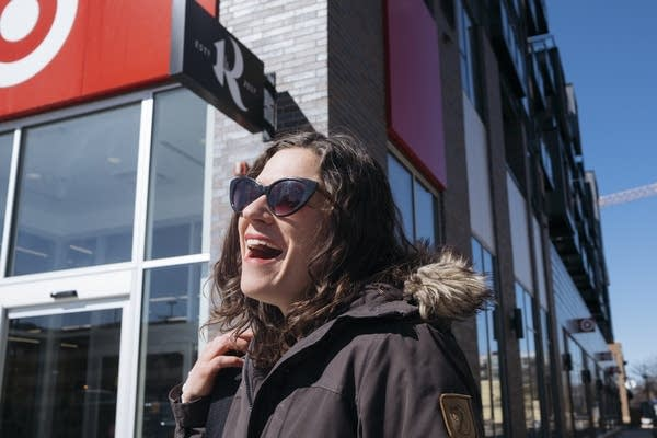 Lisa Bender stands outside of the new uptown Minneapolis Target