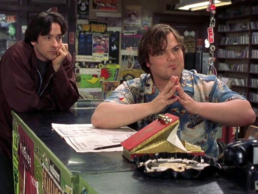 John Cusack and Jack Black in 'High Fidelity.'