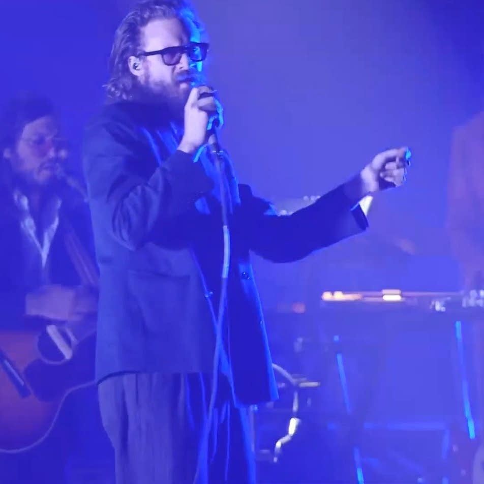 Father John Misty performs at the Armory in Minneapolis
