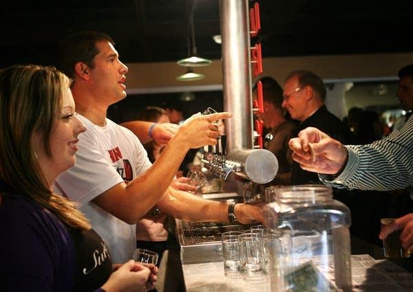 Serving Surly beer