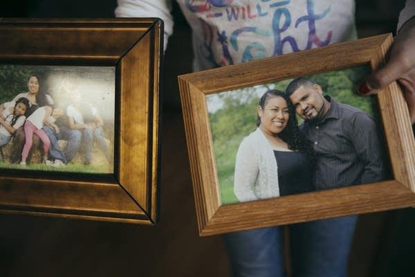 America Candela-Gonzaga shows off family photos