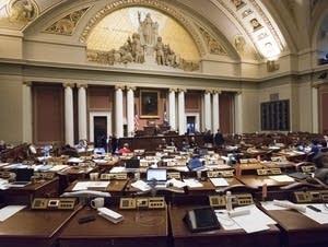 The Minnesota House sits nearly empty.
