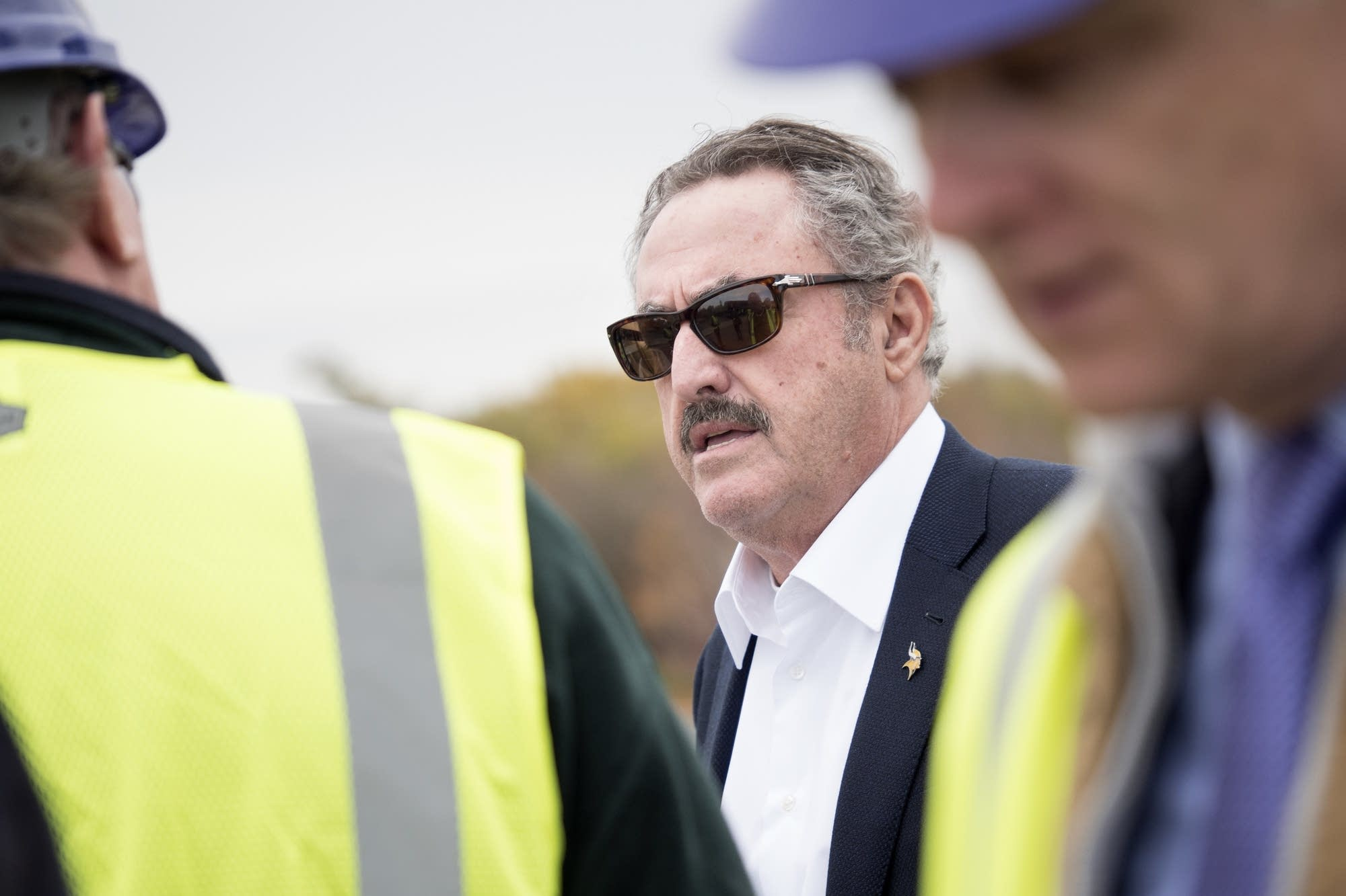 Vikings owner/chairman Zygi Wilf addressed the media during the tour.