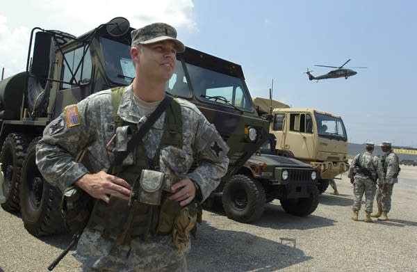 National Guard soldiers arrive in New Orleans