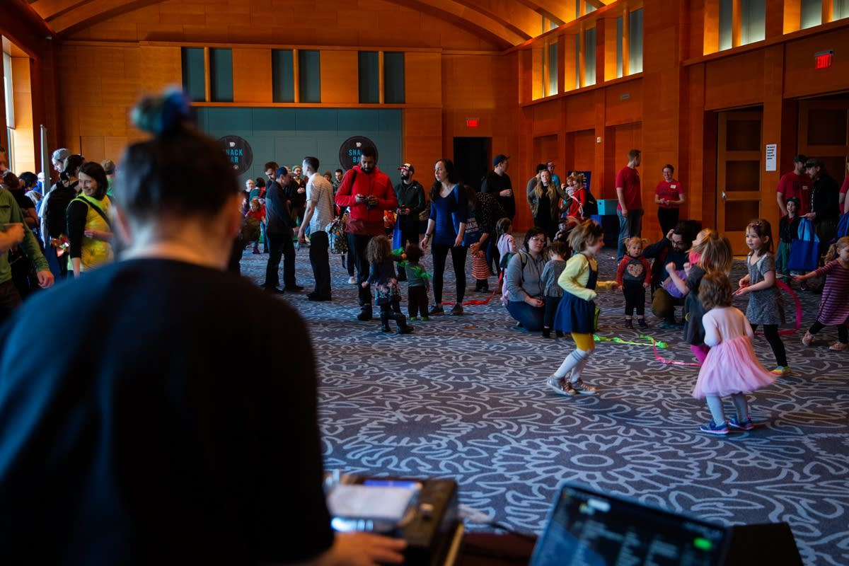 Dancing with DJ Jade at Rock the Cradle 2020.