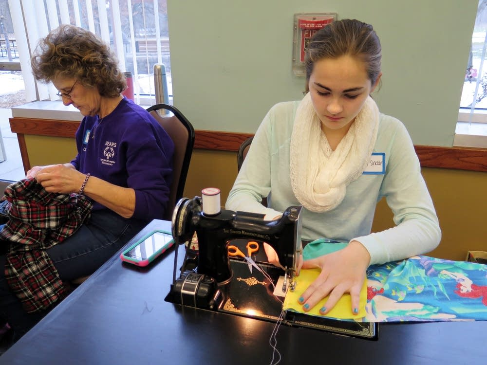 Sewing volunteers