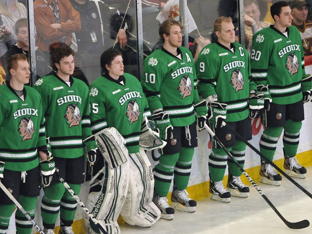 North Dakota hockey players