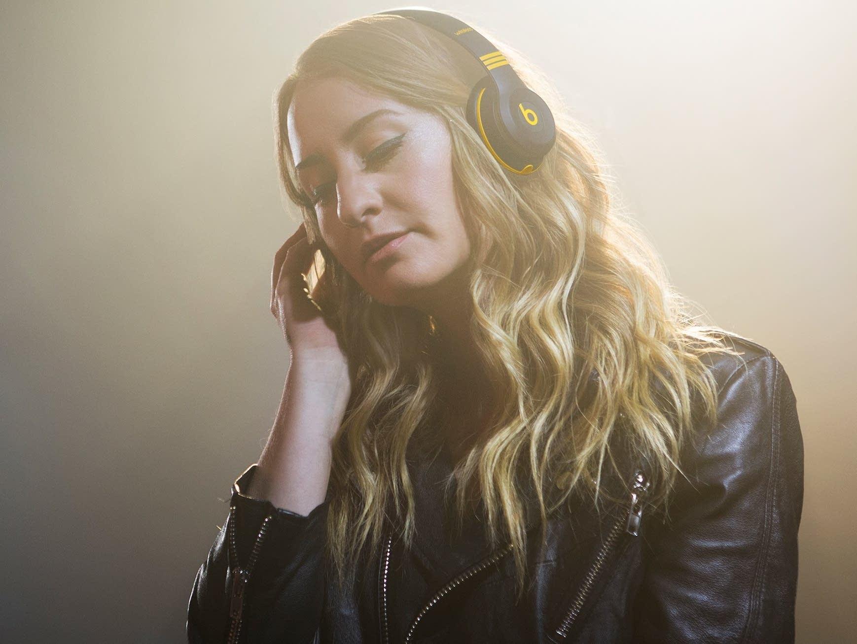 Margo Price models Beats by Dre Third Man Records headphones.