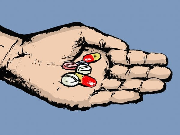 A handful of pills