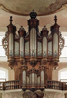 1761 J.A. Silbermann organ at Arlesheim Cathedral, Switzerland