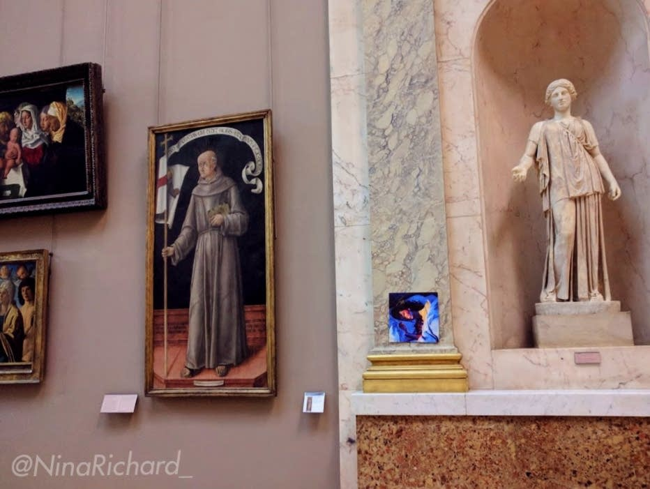 Lorde's album 'Melodrama,' hanging in the Louvre.