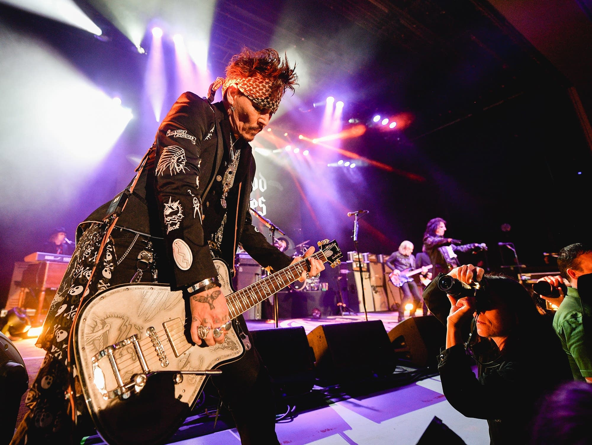 Hollywood Vampires performing at The Greek Theater in LA