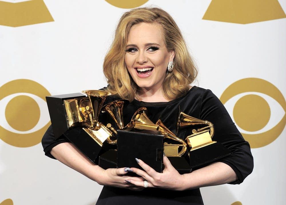 Adele's six Grammy awards