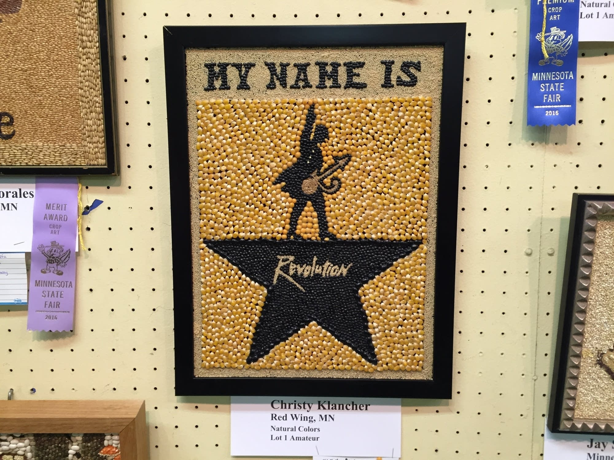 Prince seed art from the 2016 Minnesota State Fair