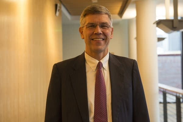Erik Paulsen stands outside the UBS Forum at MPR on Friday, Oct. 5.