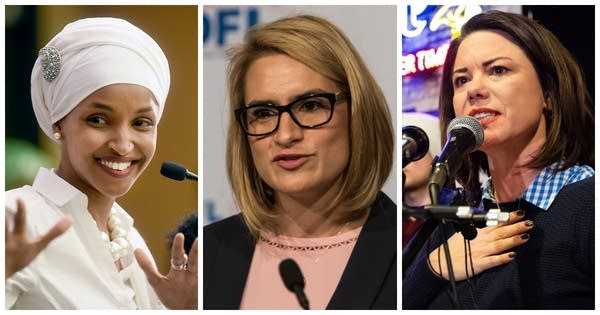 Ilhan Omar, Peggy Flanagan and Angie Craig