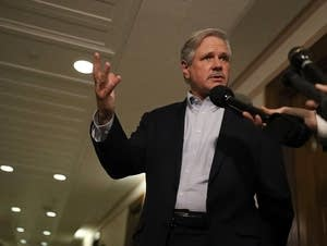Sen. John Hoeven (R-ND) speaks to reporters
