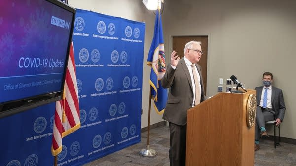Gov. Tim Walz announces new COVID-19 guidelines.