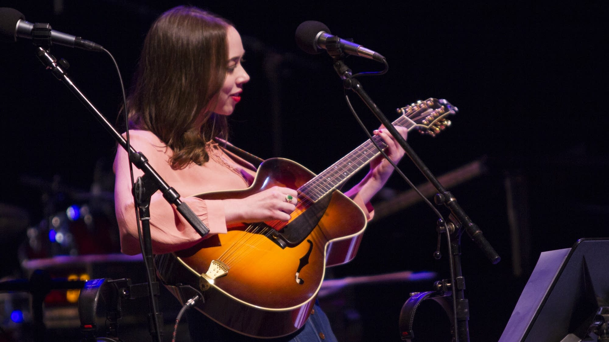 "Fresh off her double Grammy win, Sarah Jarosz plays ""House of Mercy."""