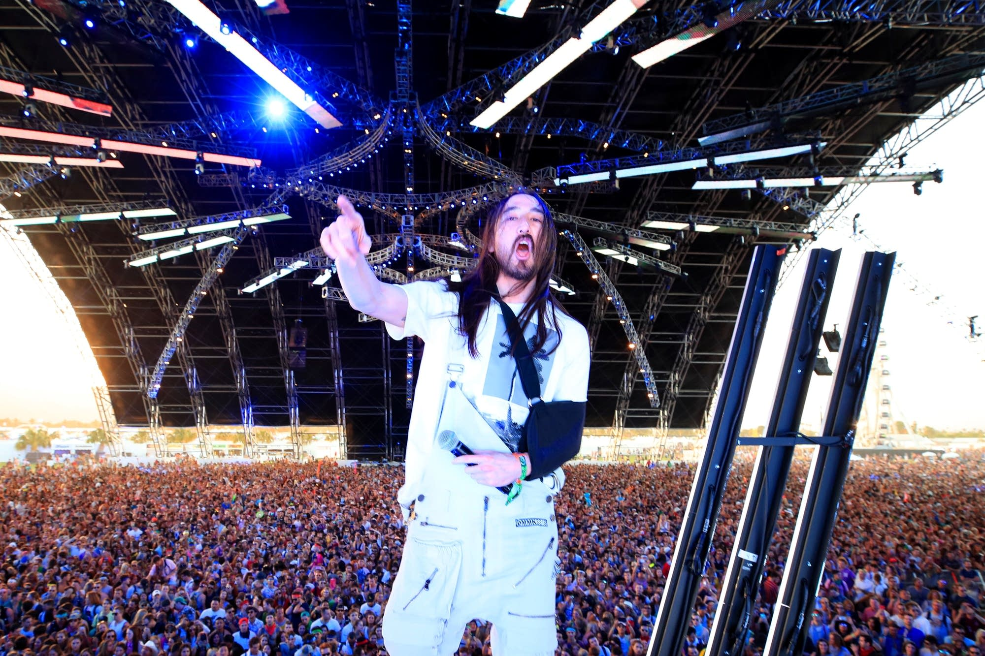Steve Aoki performs at Coachella