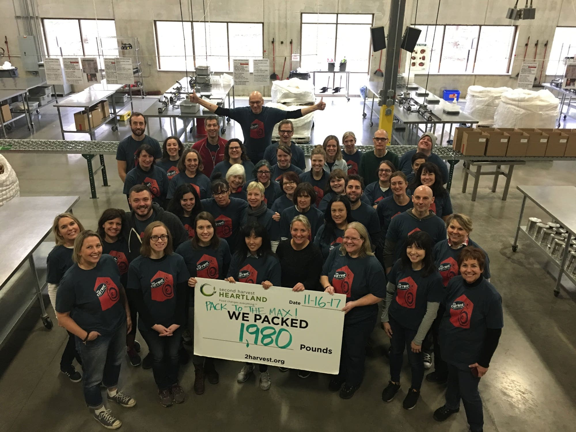 The Current team volunteers at Second Harvest Heartland