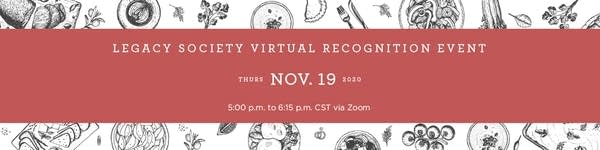 Legacy Society Virtual Recognition Event2020