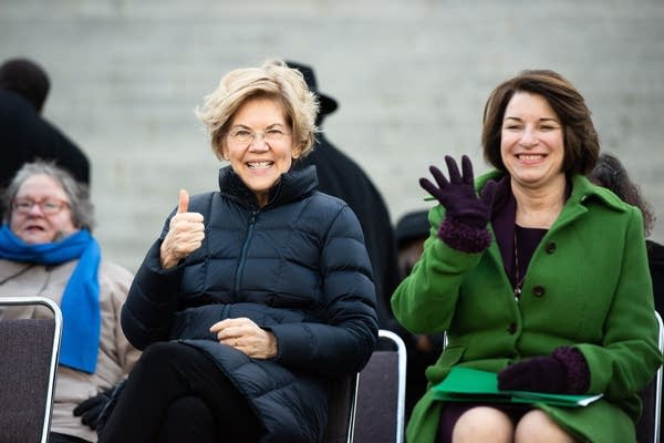 Sen. Elizabeth Warren and Sen. Amy Klobuchar