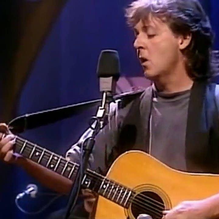 Paul McCartney unplugged