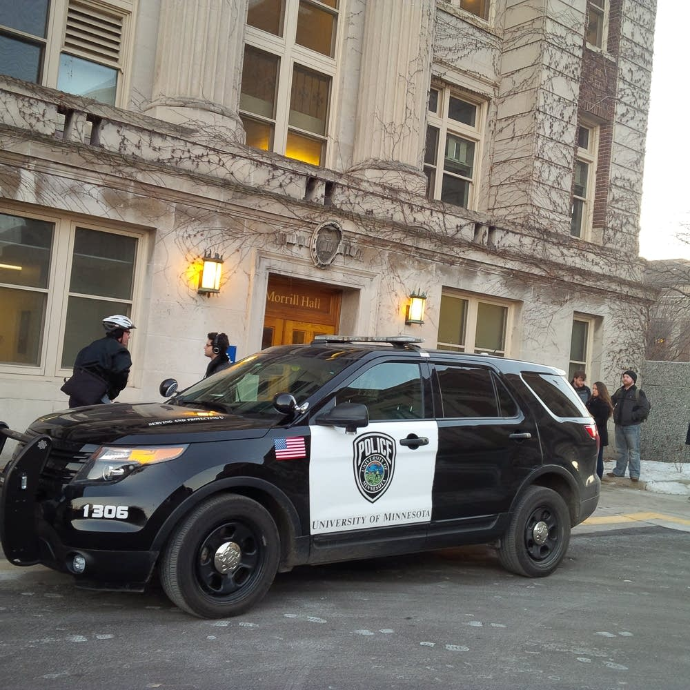 Police at Morrill Hall