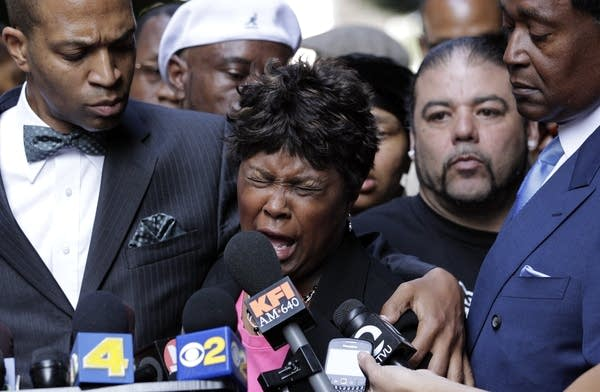 Wanda Johnson, mother of a man killed by an officer