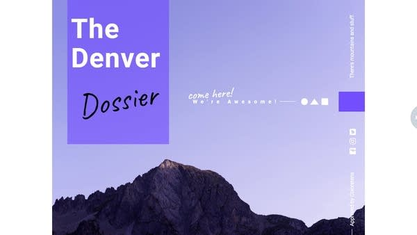 Listener Rachel made this Denver Dossier to lure TBTL to her town.