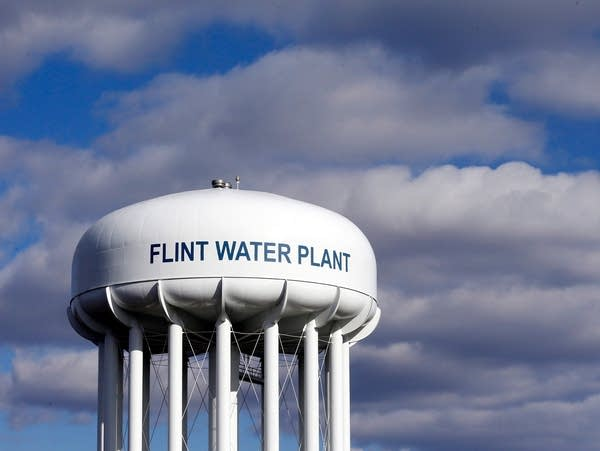 The Flint Water Plant water tower
