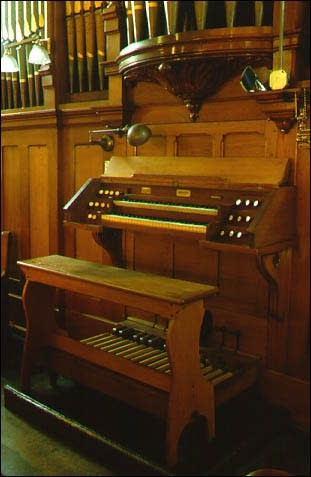 1899 August Prante & Sons organ, at Saint Philip Neri Church,...
