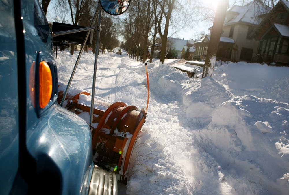 Plowing the streets
