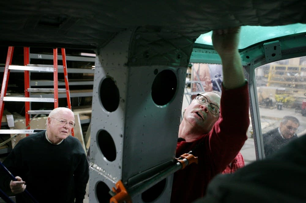 Examining the interior