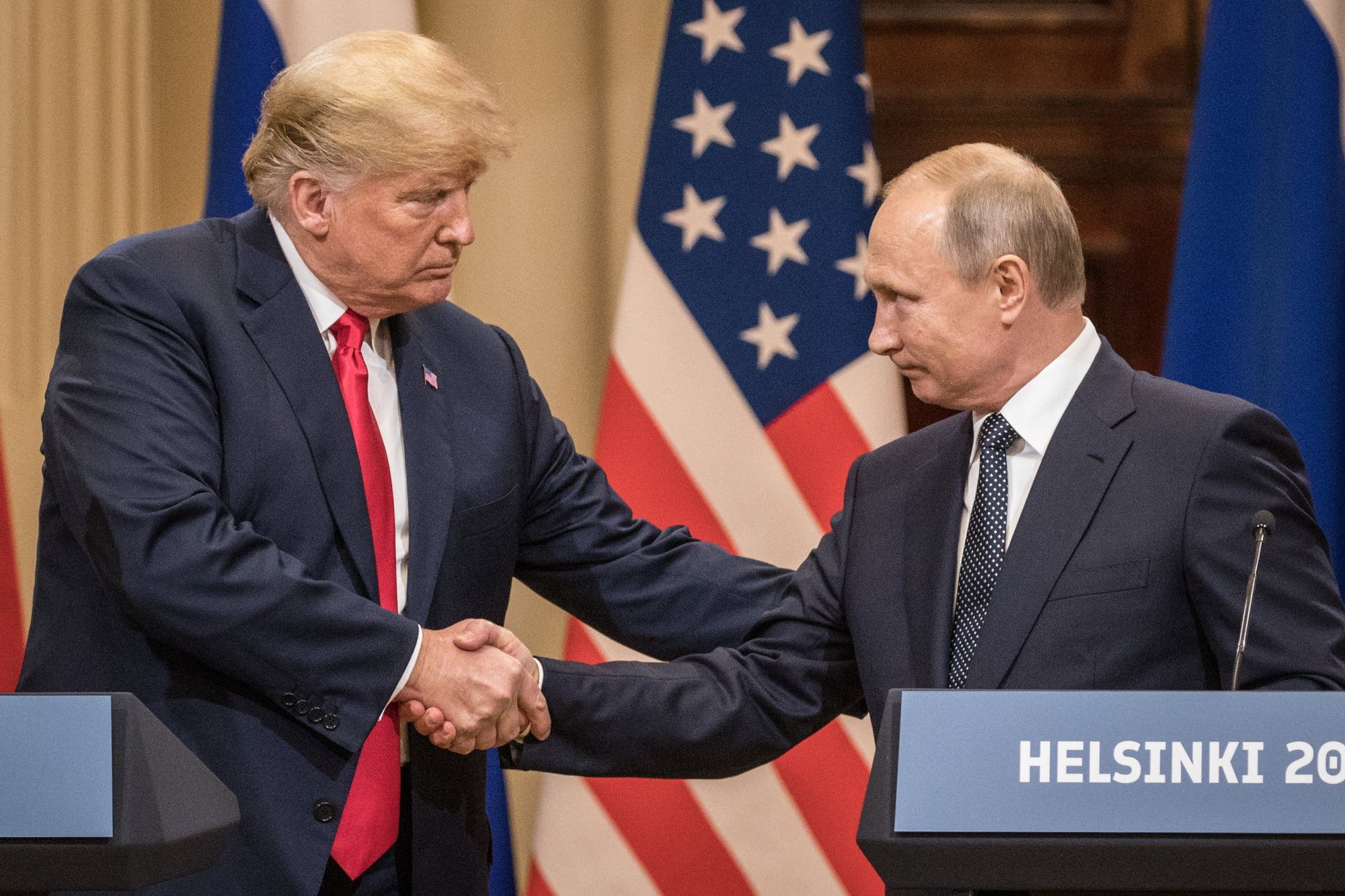 President Trump and President Putin hold a joint news conference.