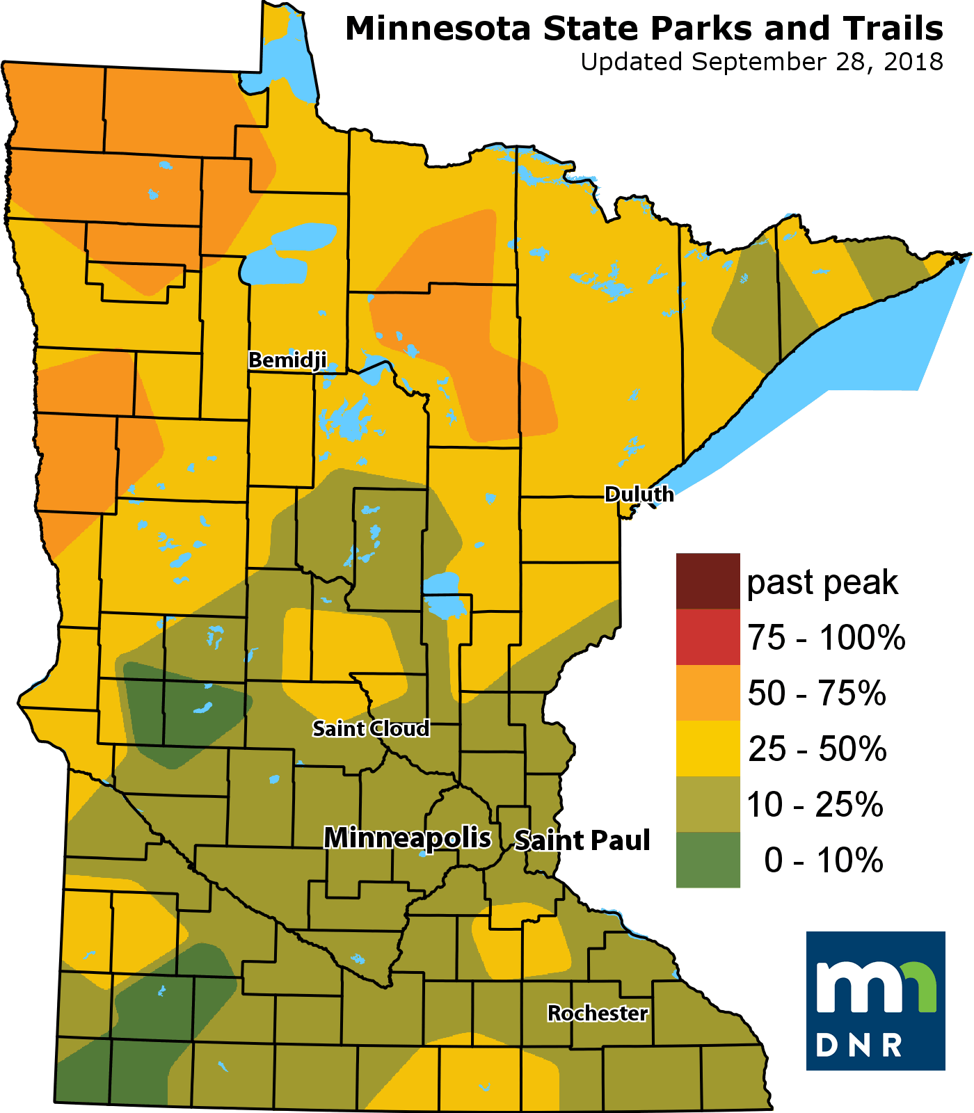 Minnesota Map Png.Beauty And The Leaf Minnesota S Best Places For Weekend Fall Color