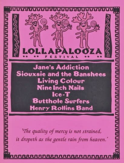 Lollapalooza 1991 poster