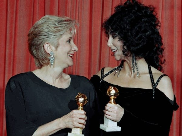 Actresses Olympia Dukakis and Cher