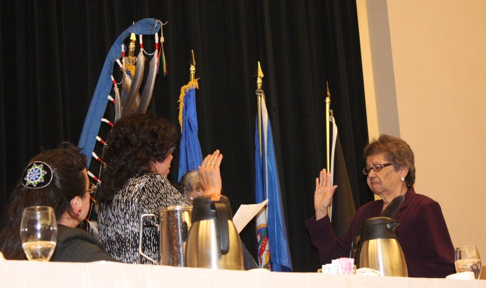 Marge Anderson sworn in