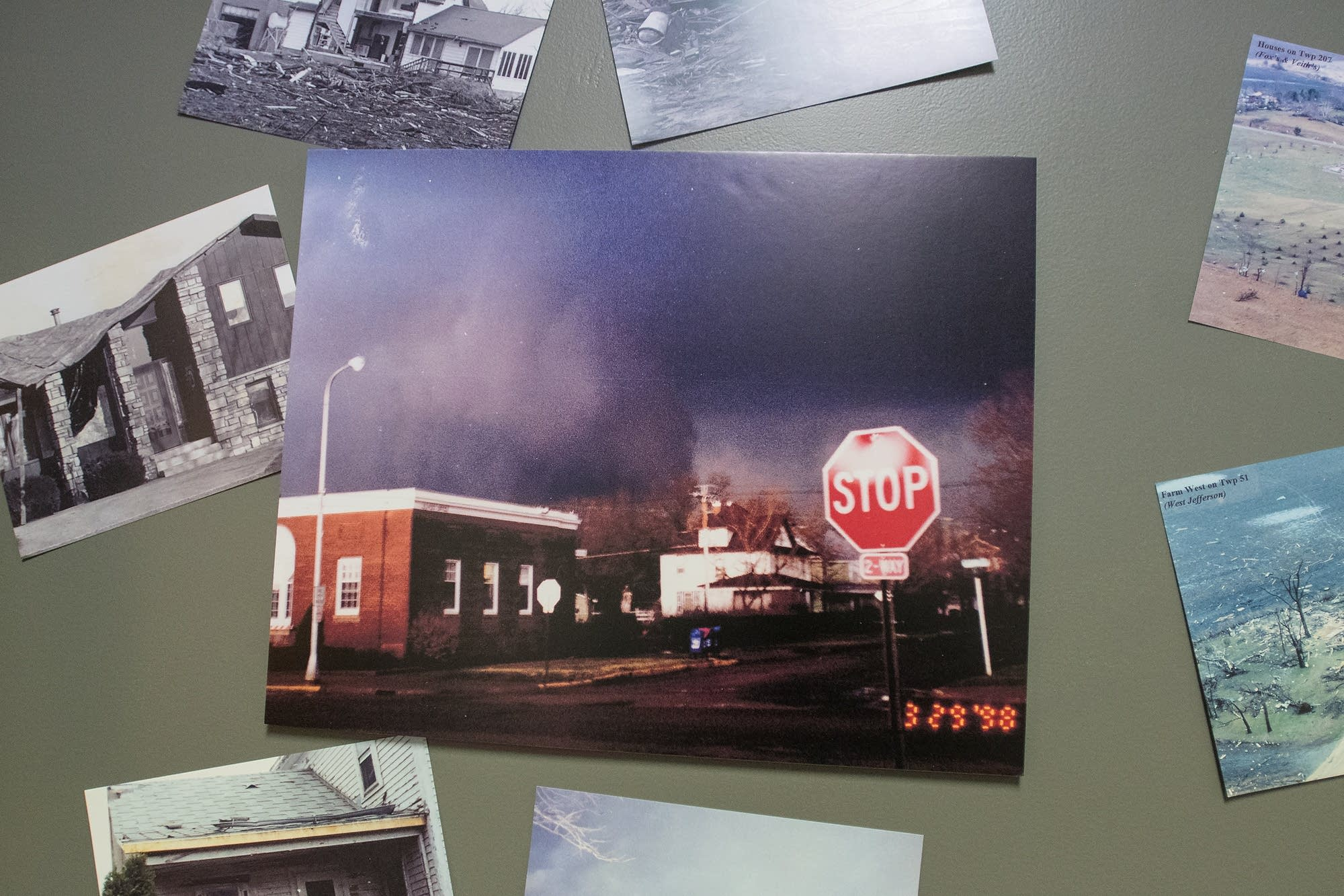 One of the few known photographs of the tornado, at the Historical Society.
