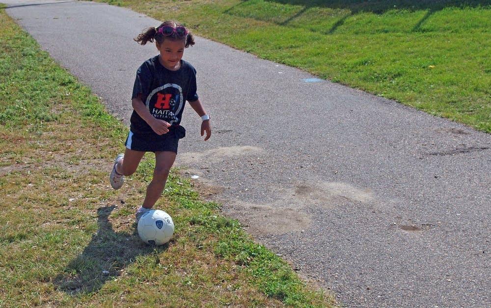 Ruthie Iyegha at last year's soccer kick.