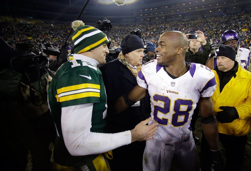 Aaron Rodgers, Adrian Peterson
