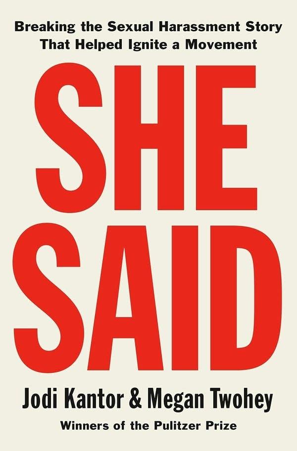 'She Said' by Megan Twohey and Jodi Kantor