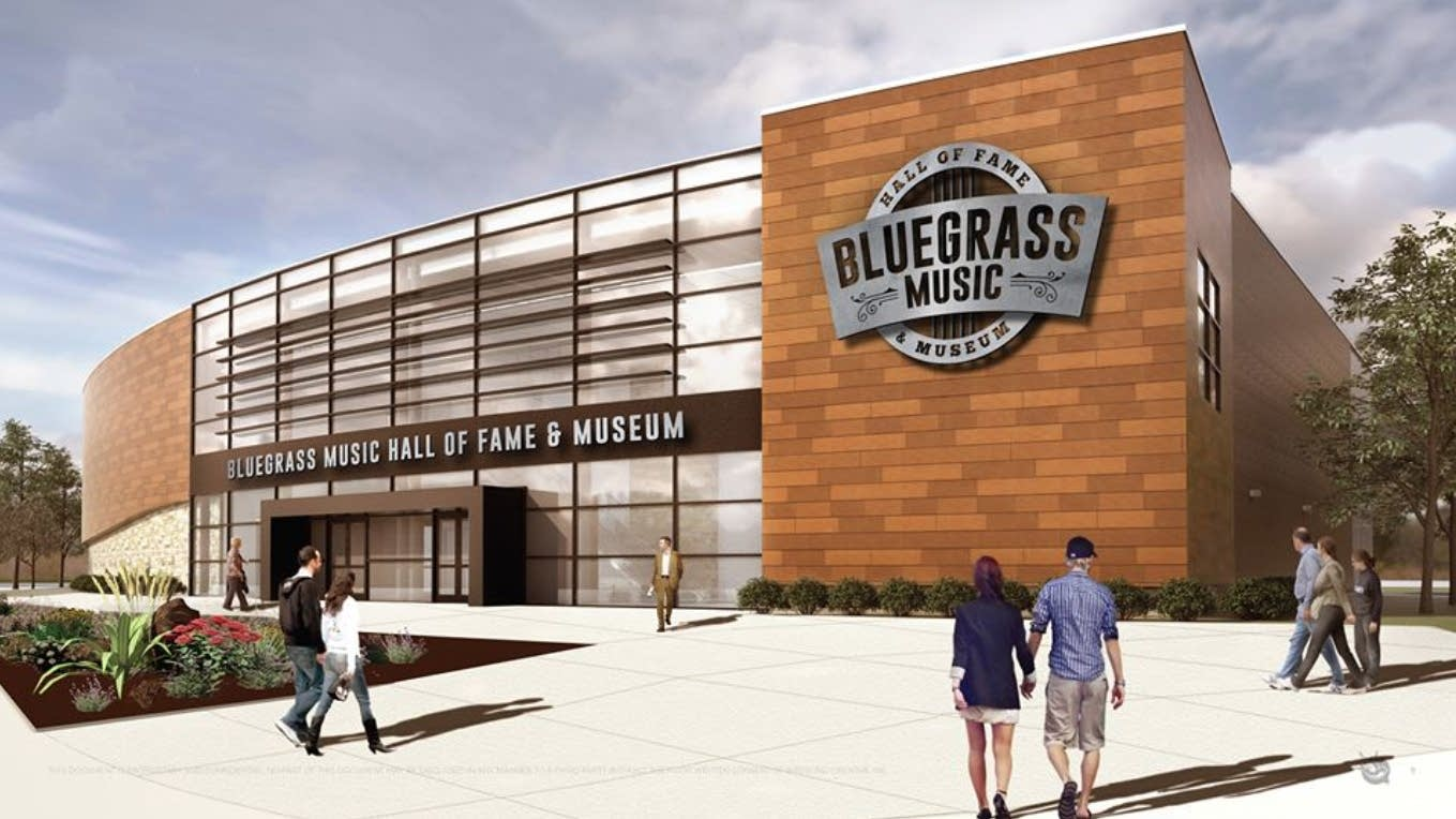 An architect's rendering of the planned Bluegrass Music Hall of Fame.