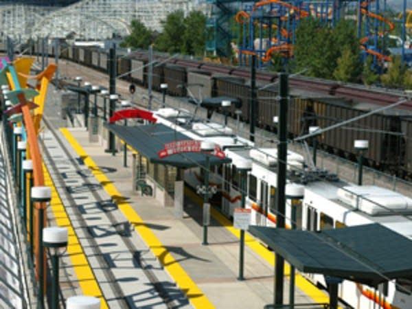 Denver light-rail stop