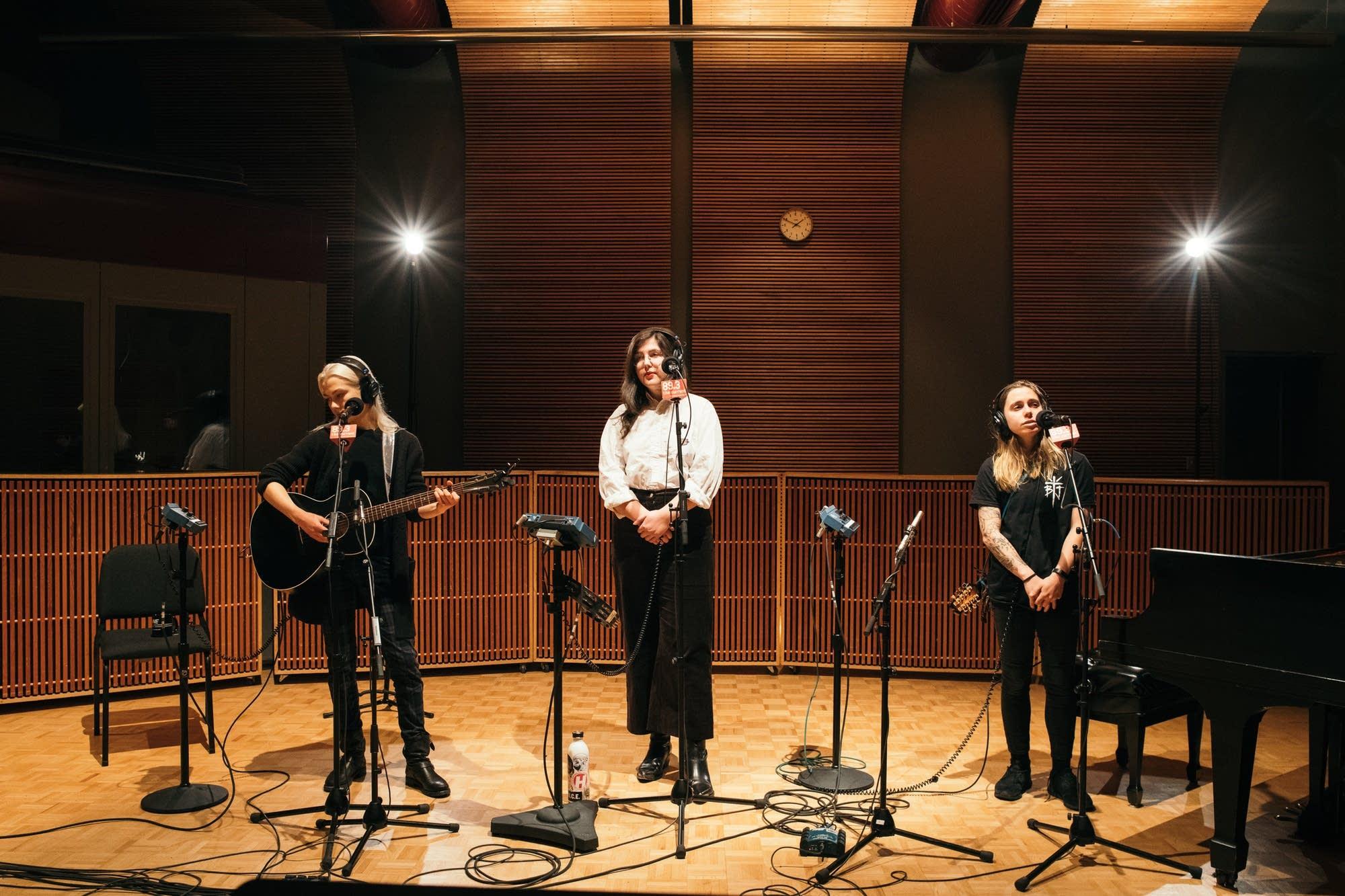 boygenius perform in The Current studio