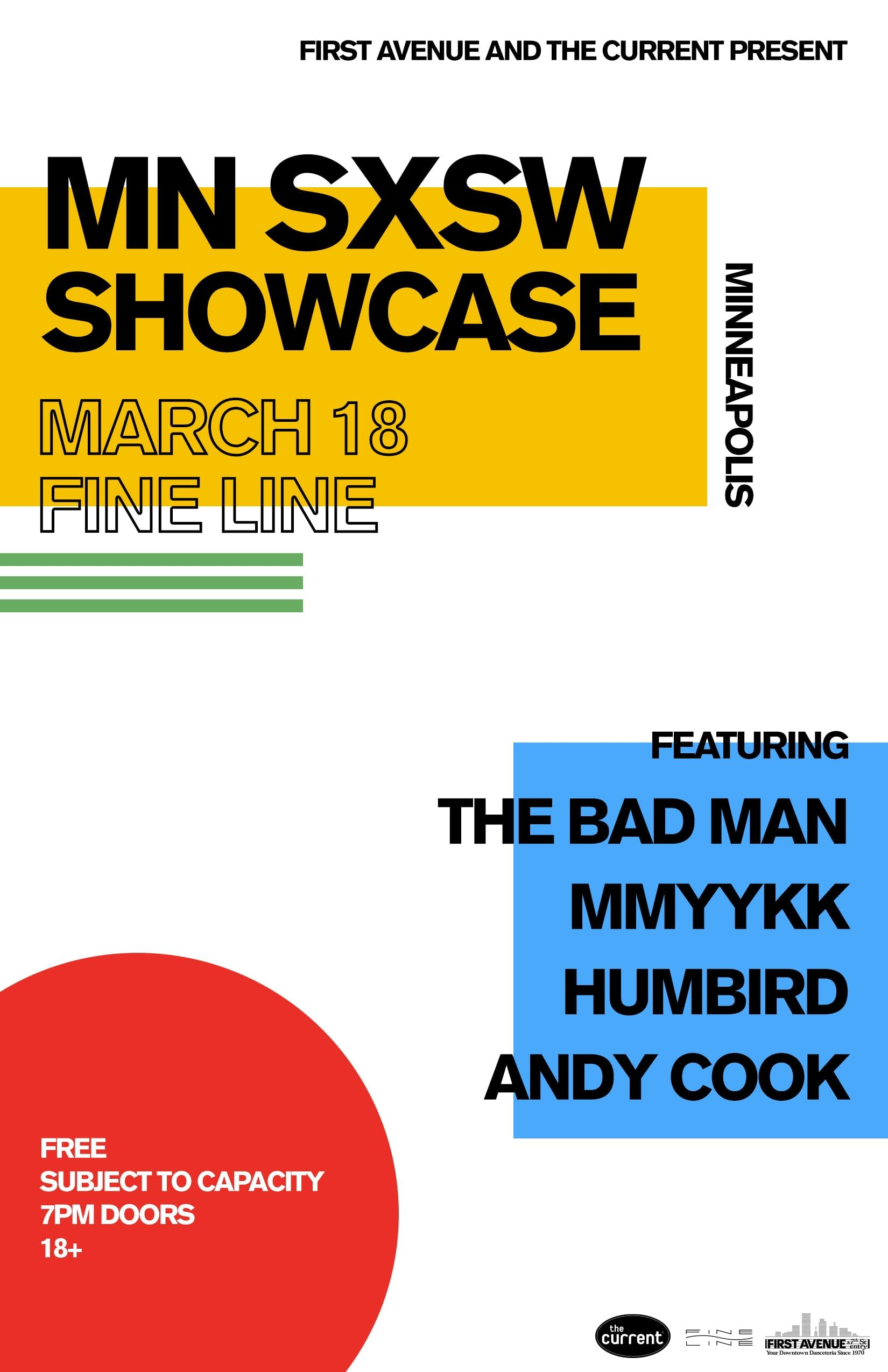MN SXSW Showcase March 18, 2020