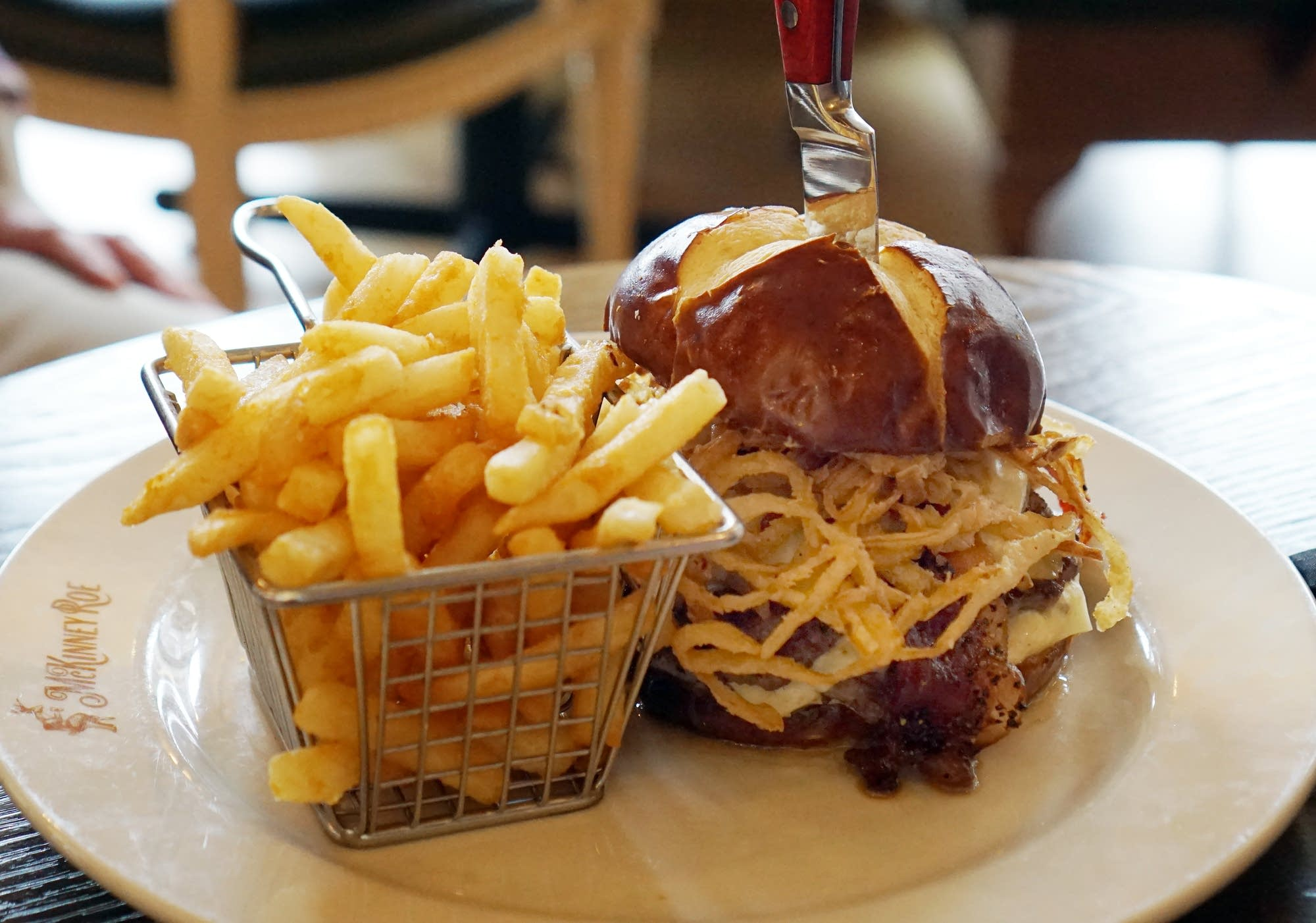 The Big Stag burger from McKinney Roe in downtown Minneapolis.