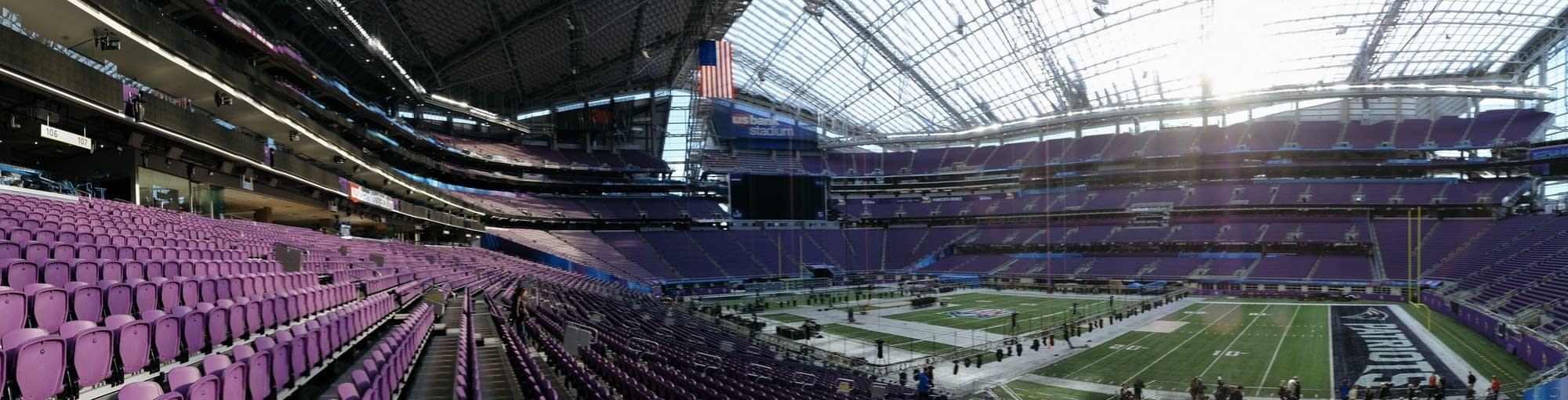 A panorama of US Bank Stadium